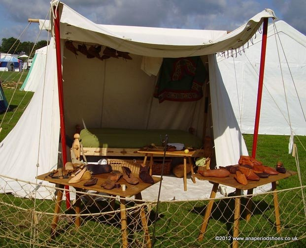 Anglo-Saxon set-up in a tent