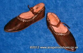 Dark Age Shoes Early Medieval One Piece Shoe Rus Viking